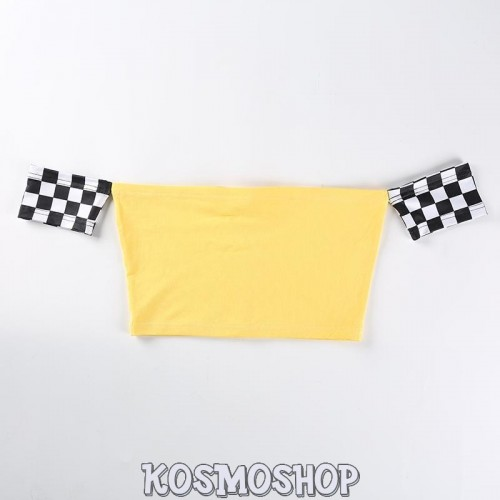 Кроп-топ Yellow Checkered