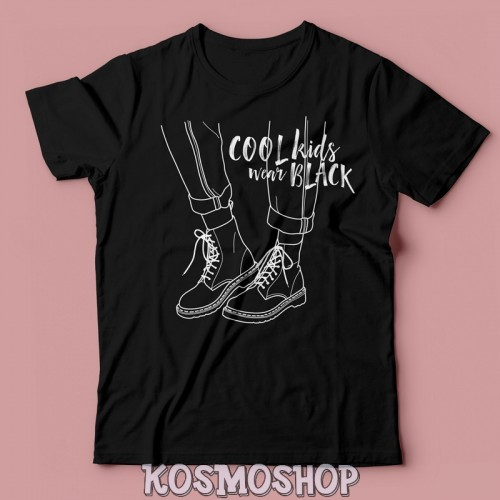 Футболка Cool kids wear black