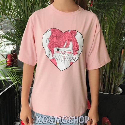 Pink Heart Girl t-shirt
