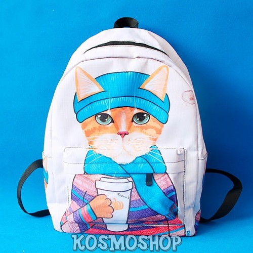 'Cat & coffee' backpacks