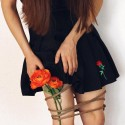 'Rose embroidery'  pleated skirt