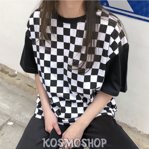 'Checkered' t-shirt