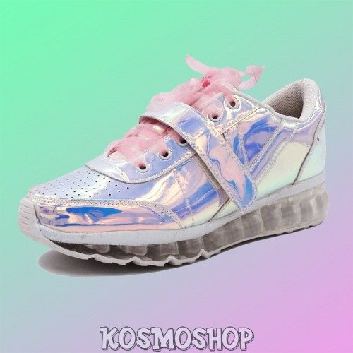 Alien princess holographic sneakers