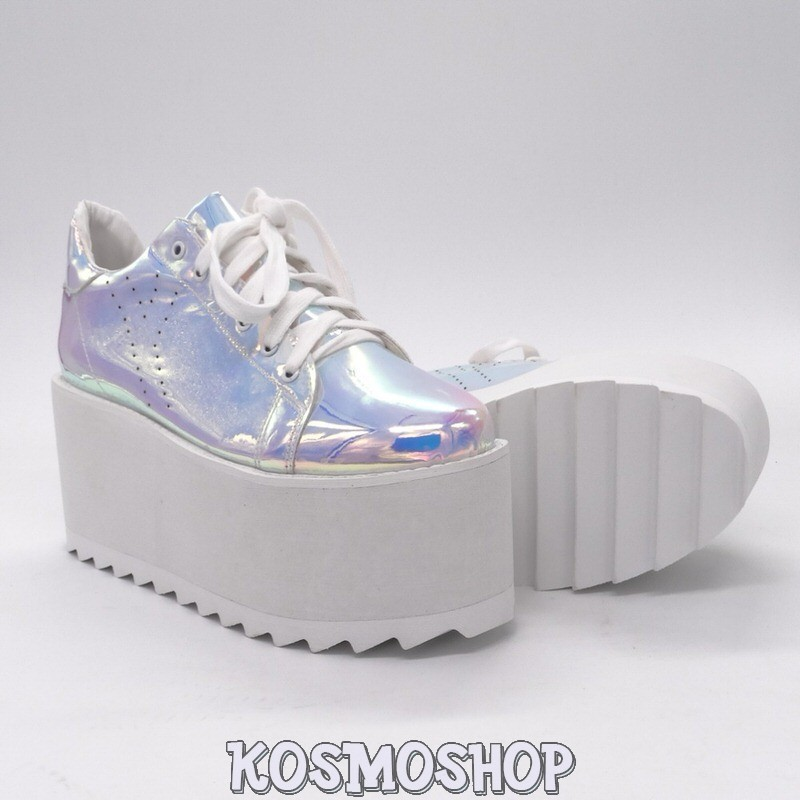 723689d9eb7e79 ... Alien princess holographic sneakers ...