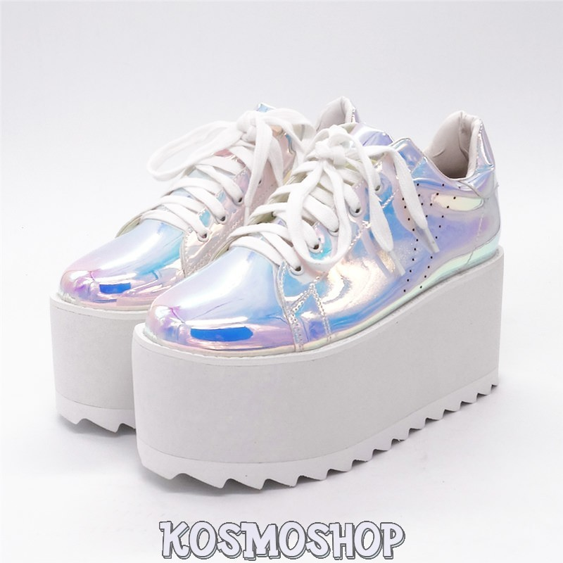 0fe222797b7d29 Alien princess holographic sneakers