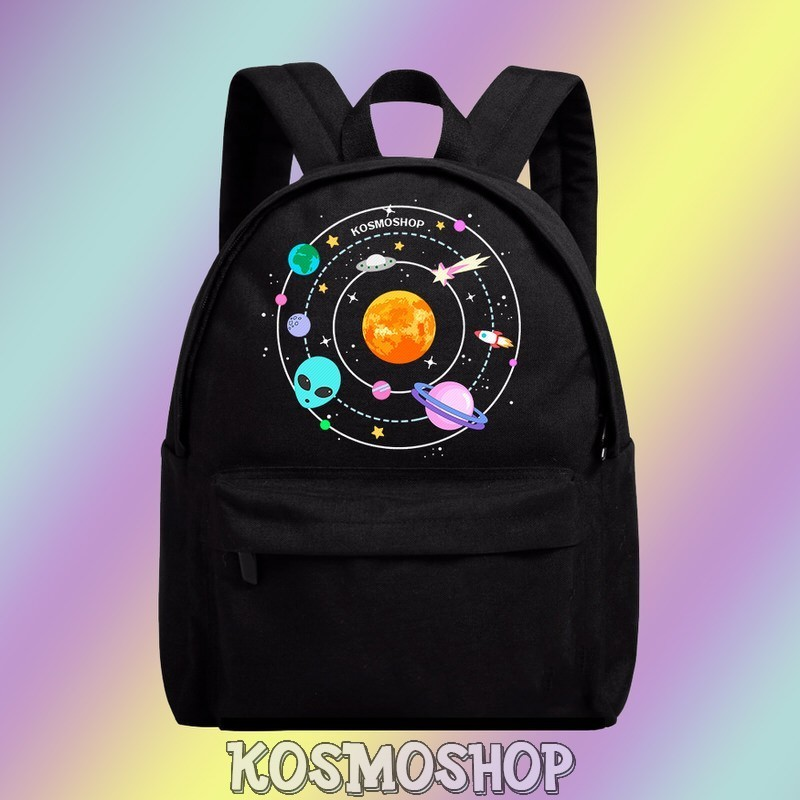 'Aliens  & Planets' backpacks