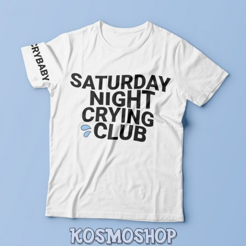 Футболка 'Saturday night crying club'