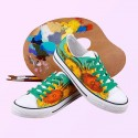 Van Gogh Sunflowers hand painted shoes