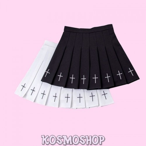 Юбка '2019 GOTH Embroidery PLEATED SKIRT'