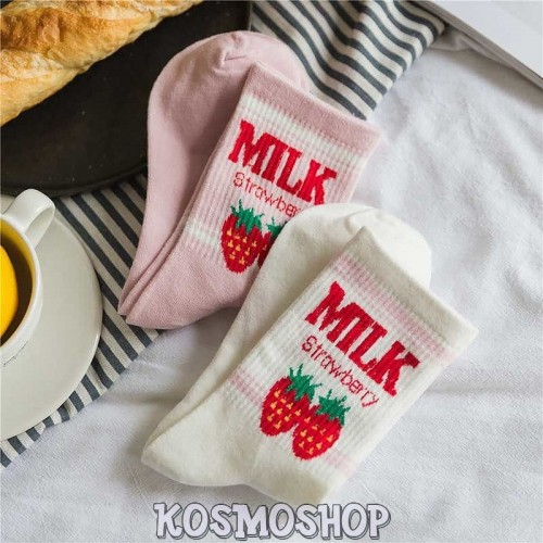 "Носки ""Milk strawberry"""