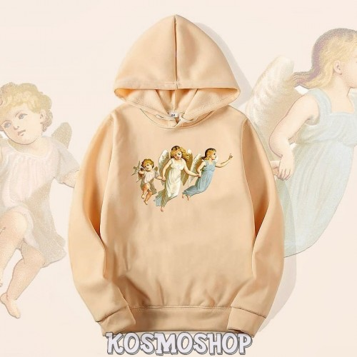 'Baby angels' hoodie - aesthetic angelic artsy soft warm cotton