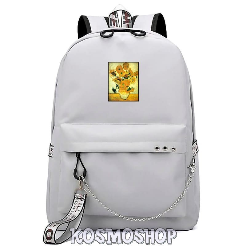 "'Red rose & Creation of Adam"" Kosmoshop chained backpack"