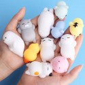 Squishy antistress toy 5 pcs  kitten pig penguin bunny