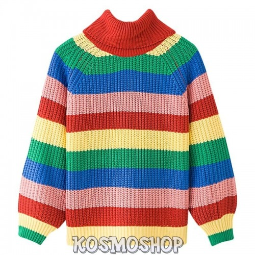 'Rainbow' sweater - colorful, striped