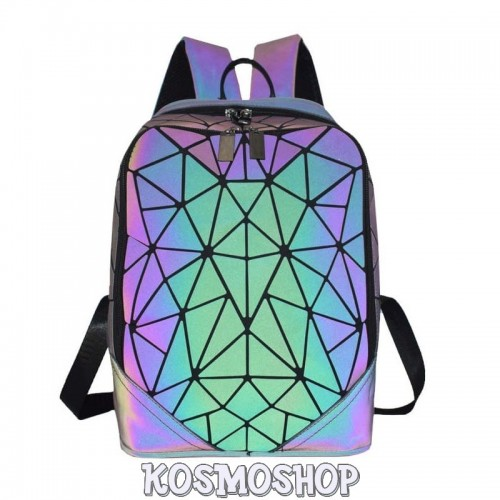 'Chameleon'  backpack geometric luminous lazer changing colors