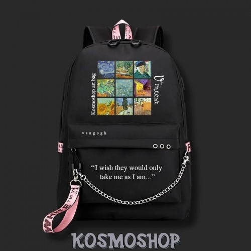 'Vincent van Gogh' Kosmoshop art bag - chain, piercing, art, painting