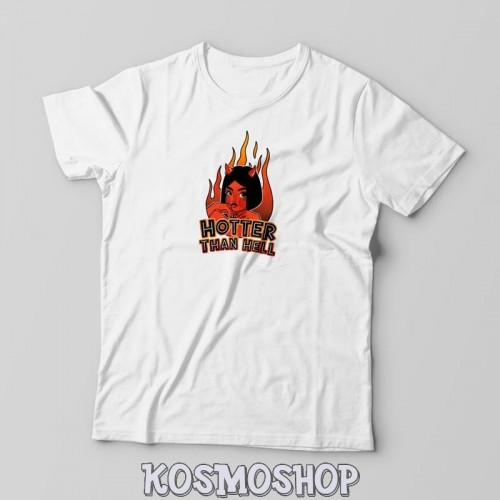 'Hotter than hell' t-shirt - Kosmoshop, 100% cotton