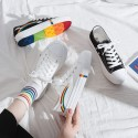 'Rainbow vibe' canvas shoes