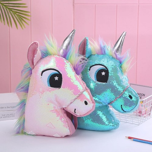 'Unicorn' backpack - sequin, kawaii, hologram
