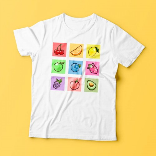 'Fresh mix' t-shirt - fruity, Kosmoshop, 100% cotton