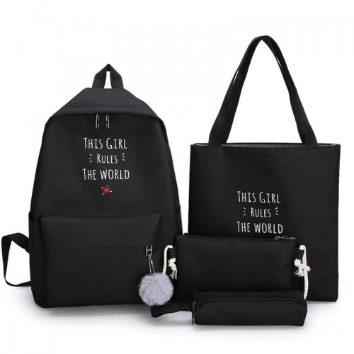 'This girl rules the world' bags set - 4 pcs