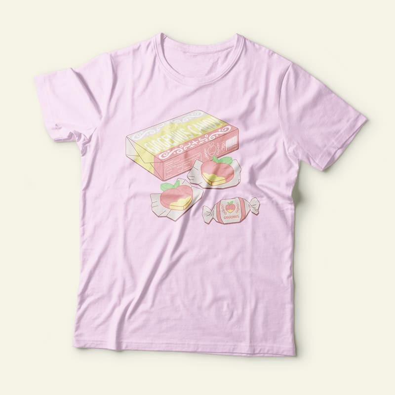 'Giogenius candy' t-shirt - merch, blogger, aesthetic, sweet, candy