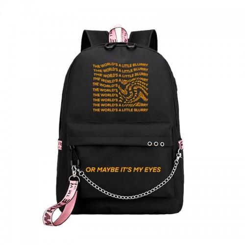 'The world's a little blurry' backpack