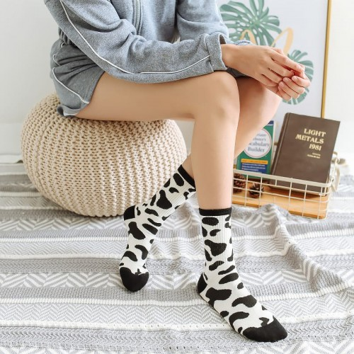 'Cow / zebra stories'  socks