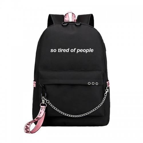 'So tired of people' backpack