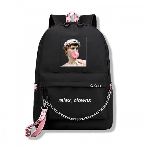 'Relax, clowns' backpack