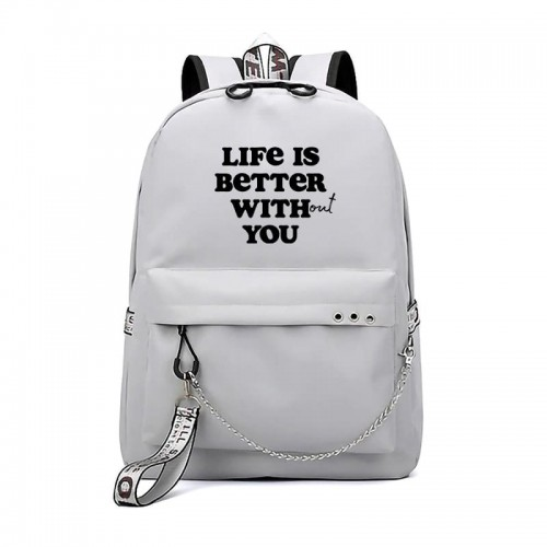 'Life is better without you' backpack