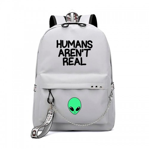 'Humans aren't real' backpack