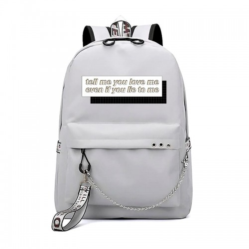 'Tell me you love me' backpack