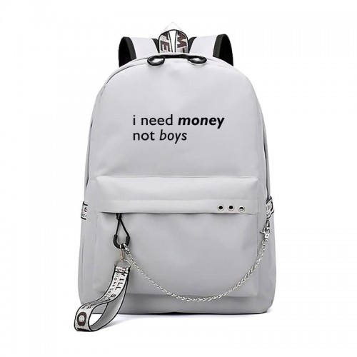 'I need money' backpack