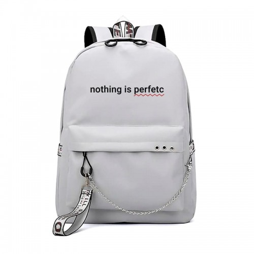 'Nothing is perfetc' backpack