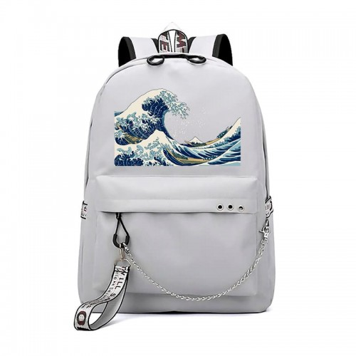 'Great wave off Kanagawa' backpack