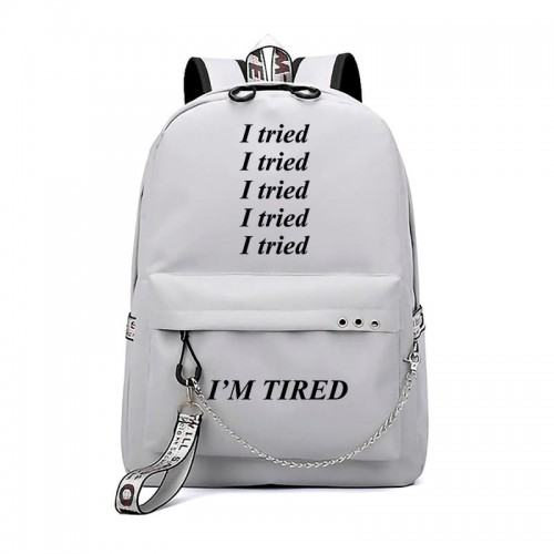 'I'm tired' backpack