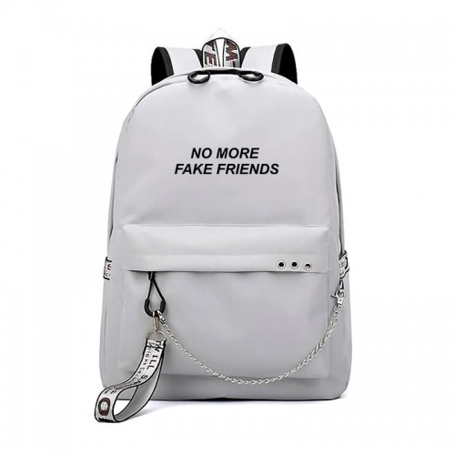 'No more fake friends' backpack