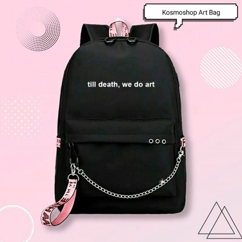 'Till death, we do art' backpack
