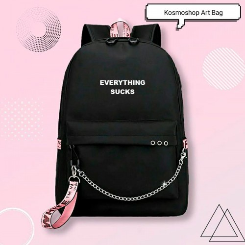 'Everything sucks' backpack