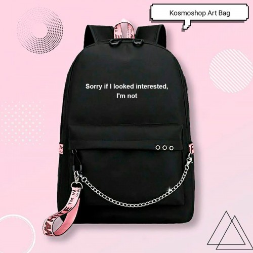 'Not interested' backpack