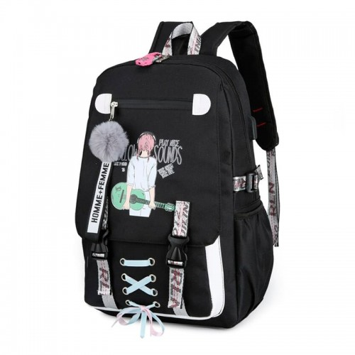 'Super girl' USB backpack