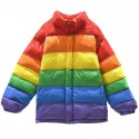 'Get Rainbow mood' jacket - super bright, colorful & cool