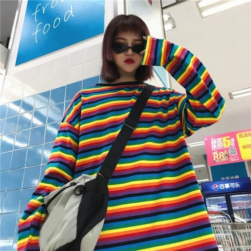 'Rainbow' long sleeve shirt