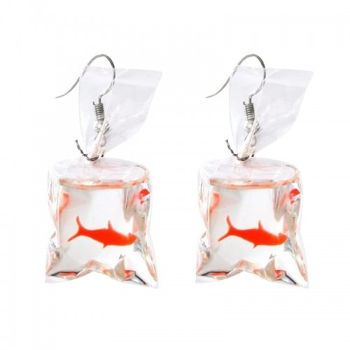 'Golden fish' earrings - in 'water' packet