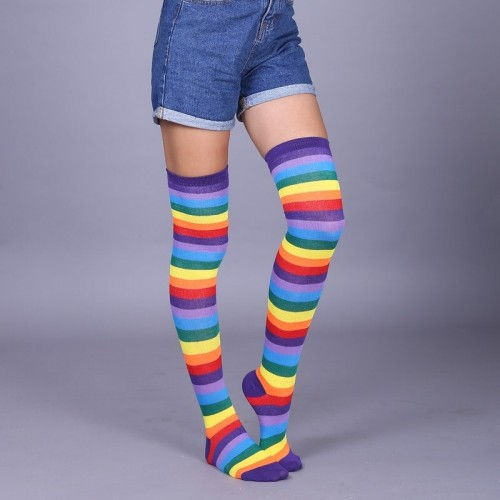 'Rainbow'  knee socks