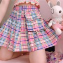 'Japan' skirt - grid, chained