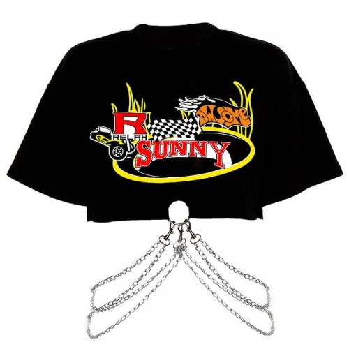 'Sunny' chained crop t-shirt