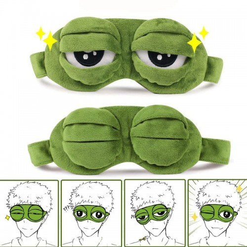 'Frog' sleeping mask - green, eyes, cool, gift