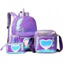 'Unicorn' kid bag set - 3 pcs, holo